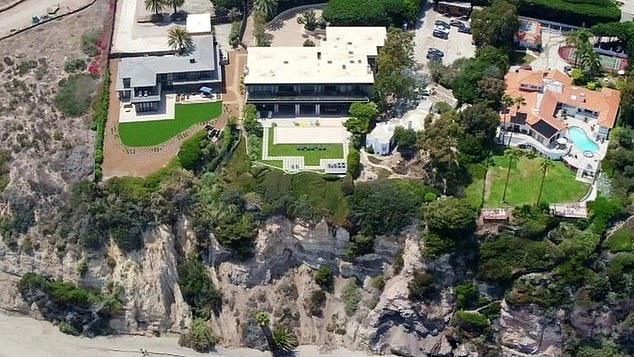 Cliff-side mansions purchased by King Abdullah of Jordan in Malibu, California